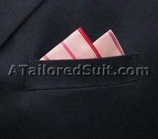 Square Pocket Handkerchief Fold Two Point