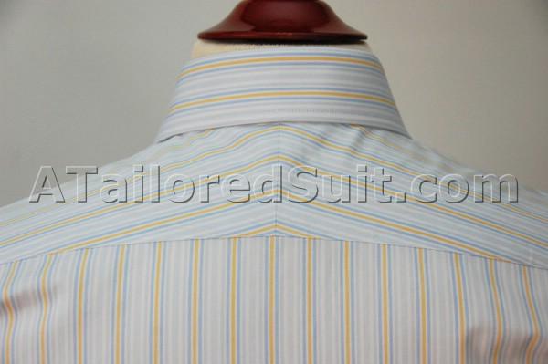men's custom shirt back