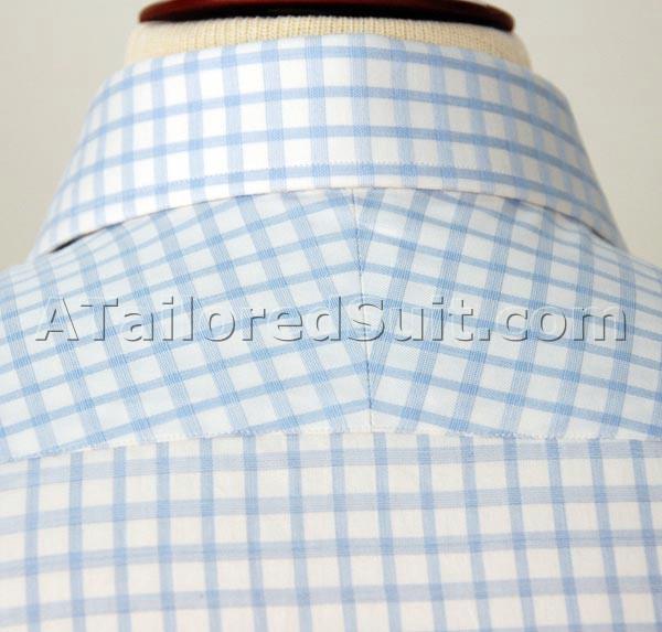 Custom Shirt Blue Check Back