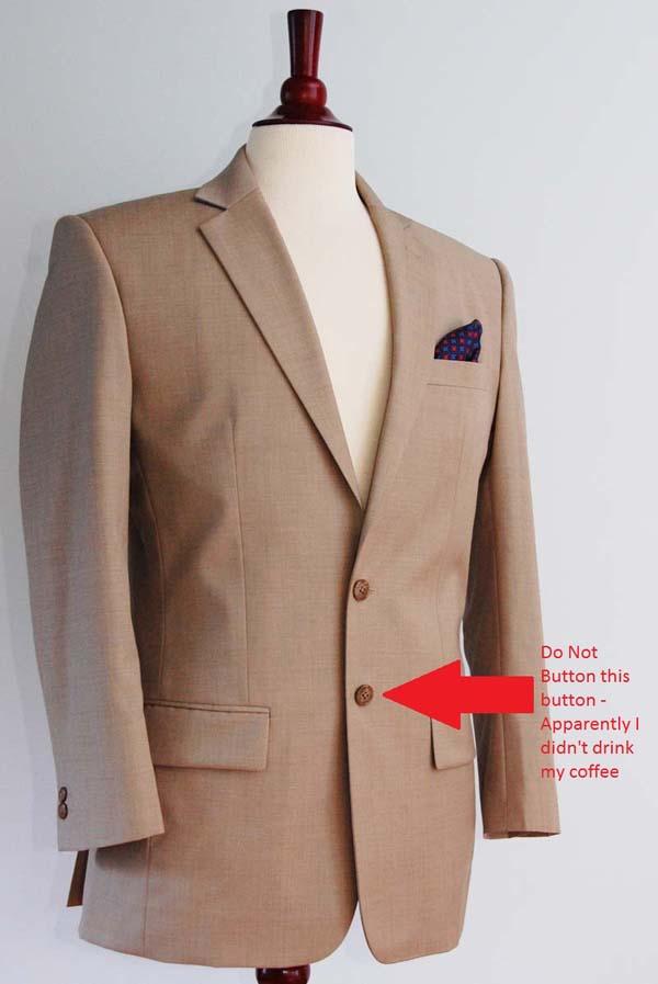 mens tan suit jacket custom