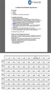 Printable Fabric Tape Measure