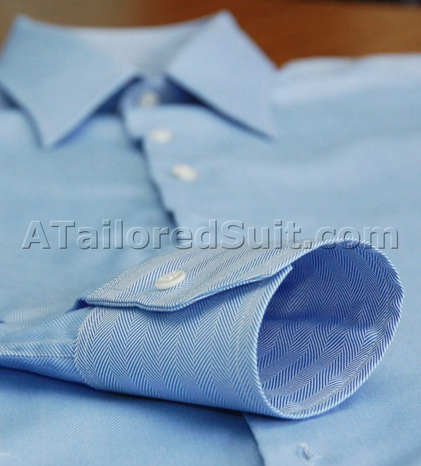 Blue Herringbone Cuff