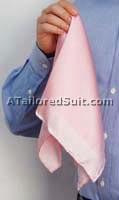 Square Pocket Handkerchief Fold Flute