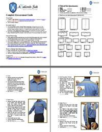 Custom Garment Measurement Instructions
