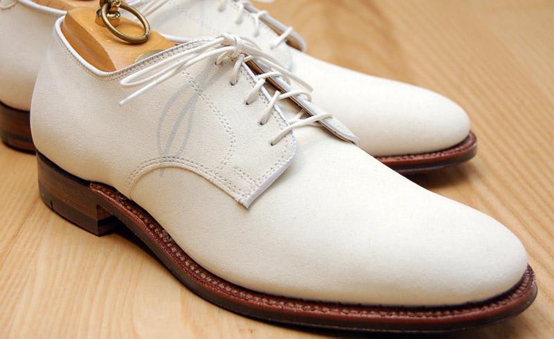 white buck men's dress shoe