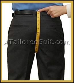 Men's Trouser Back Crotch Measurement