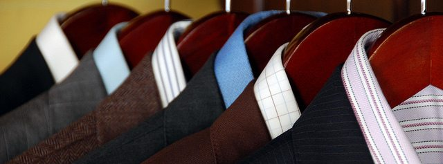 wardrobe of mens suits
