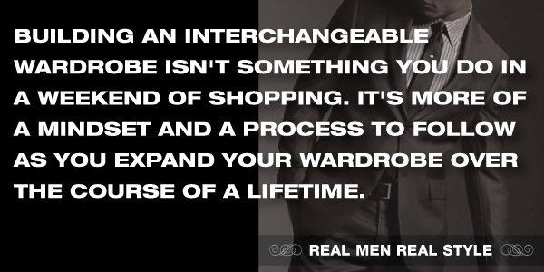 interchangeable wardrobe mindset